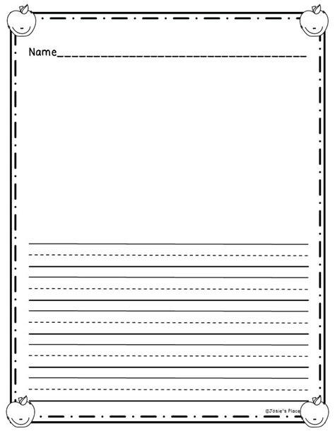 kindergarten writing paper kindergarten writing paper
