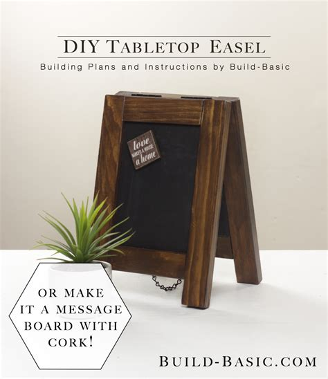 build  diy tabletop easel build basic