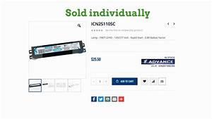 Icn2s110sc35m Advance Fluorescent Ballast