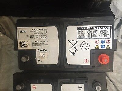 bmw e90 batterie genuine bmw agm battery e90 e92 f30 mini f10 f20 800a 80ah