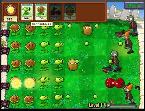 Pflanzen Gegen Zombies Pilze Im Zen Garten by Flash Spiel Der Woche Pflanzen Gegen Zombies
