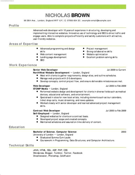 100 free resume templates sle resume cover letter format