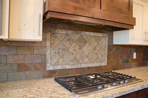 kitchen with brick backsplash tuscan stained glass pattern copper slate brick 6498