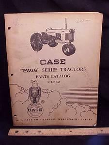 1958 Case 200b Series 210b 211b   Tractor Parts Manual