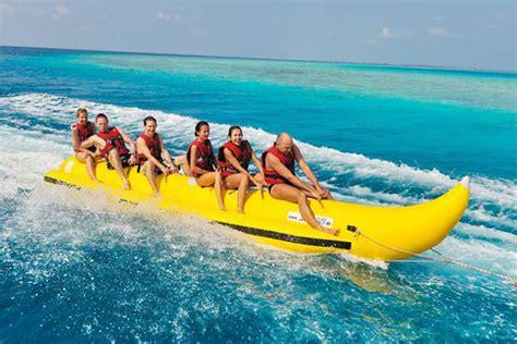 Banana Boat Girl by Watersports Water Sports Dubai Donut Ride Dubai Banana