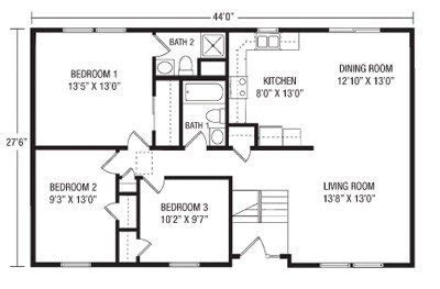 split ranch floor plans split ranch house plans fresh raised ranch house plans