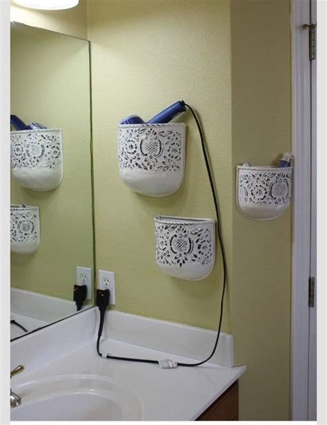bathroom tidy ideas tidy up your bathroom by re purposing wall flower pots to