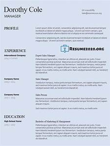 2020 Best Resume Templates Best Resume Templates 2020 Free 30 Examples In Docx