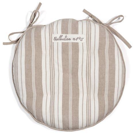 galette de chaise maison du monde galette de chaise à rayures en coton beige félicité