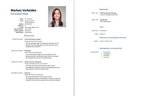 gratis cv templates downloaden  sollicitatiecursuscom