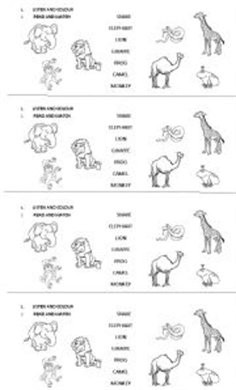 13 best images of printable animal worksheets french