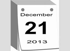 Free vector graphic December 21, 2013, Calendar, Date