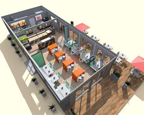 faire un plan de cuisine en 3d gratuit restaurants de plage démontable construction modulaire modul 39 space