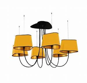 Abat Jour Nuage : lustre 6 petit nuage jaune et or 94 cm designheure luminaires nedgis ~ Teatrodelosmanantiales.com Idées de Décoration