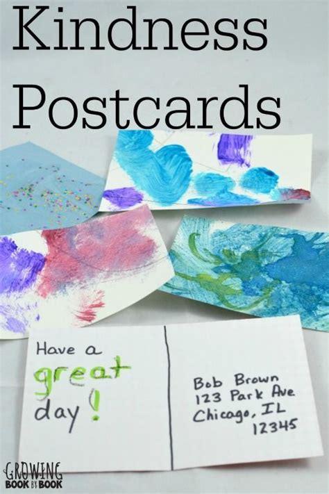 writing activities kindness postcards writing