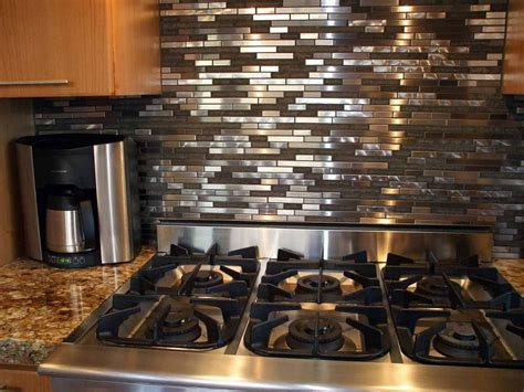 metal tiles for backsplash kitchen stainless steel backsplash tiles the tile home guide 9154