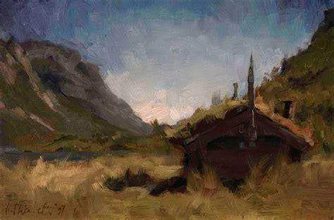 home interior painting landscape hege elisabeth haugen