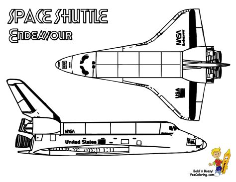 Spectacular Space Shuttle Coloring Space Shuttle Free
