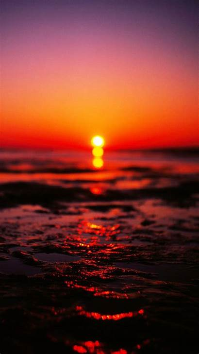 Sunset Iphone Wallpapers Blurry Nature Aesthetic Phone