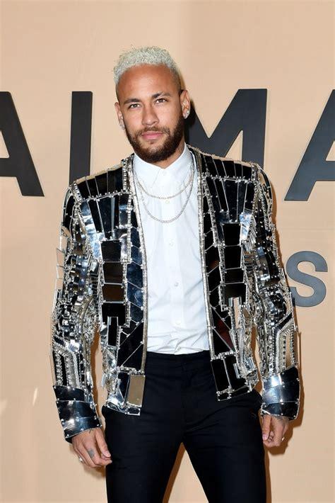 Neymar attends the Balmain Menswear Fall/Winter 2020-2021 ...