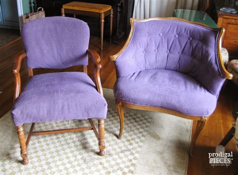 quot the other quot purple chair makeover prodigal pieces
