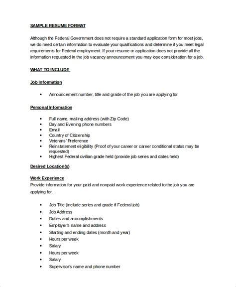 Resume Format In Word by Resume Sle 8 Exles In Word