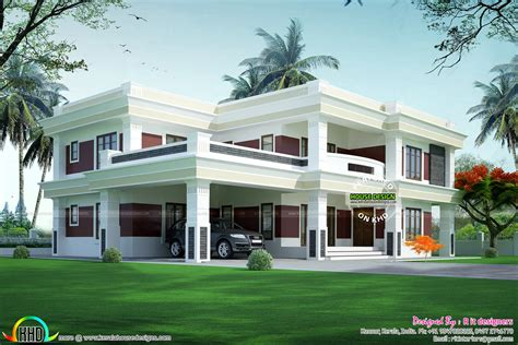 complete flat roof luxury home