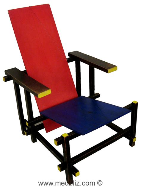 chaise 171 bleu 187 par gerrit rietveld meuble design