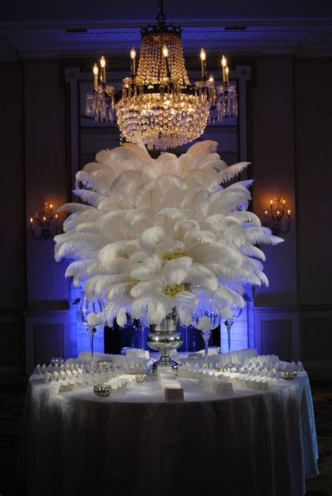 #centerpiece with feathers