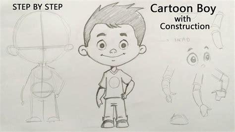 learn   draw  cartoon boy character step  step