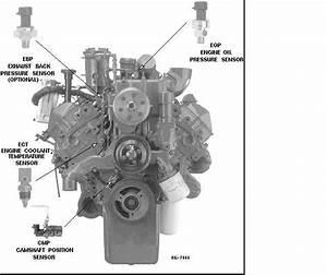 Where Is The Oil Pressure Sensor On A 1995 International 444e