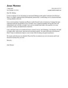 best hotel hospitality cover letter exles livecareer