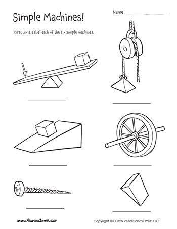 six simple machines worksheet tim s printables