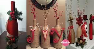 Decoración navideña con botellas de vidrio Dale Detalles
