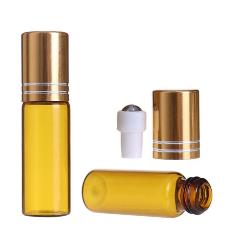 Our roller bottles will give you the perfect application of oils each time, and are a great compliment to your oil dispensing tools. 1ml 2ml 3ml 5ml 10ml Amber Glass Roller Bottle Roll On For ...