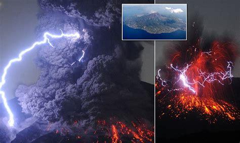 japanese volcanic eruption  created giant plumes