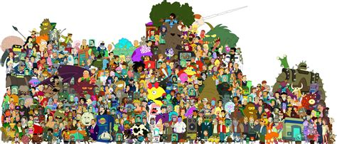 All The Futurama Characters Ever In One Photo ! See You In