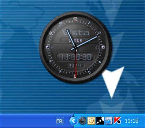 horloge bureau windows xp vista clock télécharger