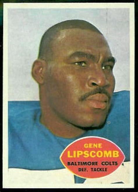 gene lipscomb  topps  vintage football card gallery