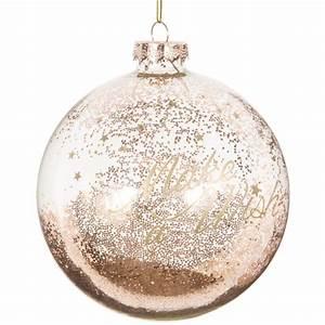 Boule Noel Transparente : boule de no l transparente dor e en verre 10 cm gold maisons du monde ~ Melissatoandfro.com Idées de Décoration