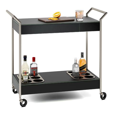 bdi verra modern black bar cart eurway furniture