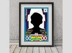 Match Attax Fully Customised Poster Football Gifts