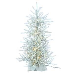 4 ft flocked twig slim pre lit tree at hayneedle