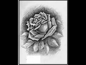 Dibujos a lapiz de rosas ,corazones y rostros YouTube