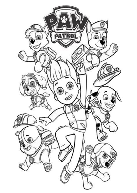 disegni da colorare paw patrol 187 disegni da colorare di paw patrol paw patrol
