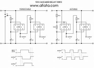 Lm555 Electronics Schematic Diagram Two Stage Time Delay Circuit Part 29