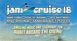Jam Cruise Reveals Dates, Destinations for 2020 Sailing