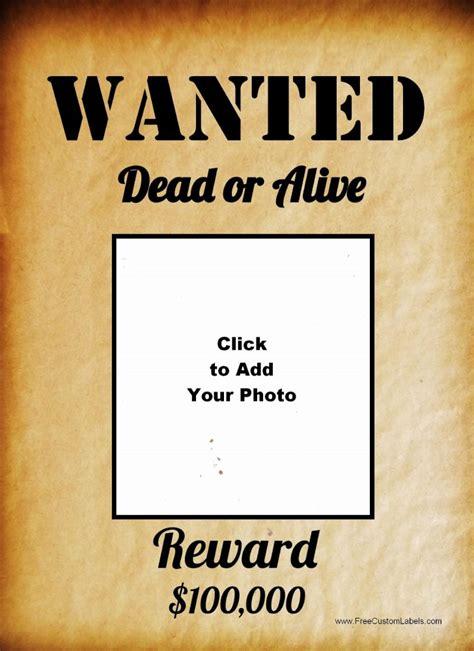 Wanted Poster Template Template Wanted Poster Template