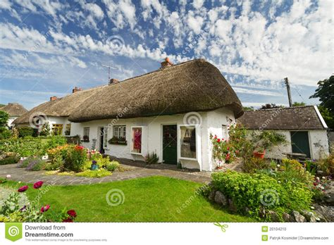 Cottage Irlandesi Casa Tradizionale Irlandese Cottage Fotografia Stock