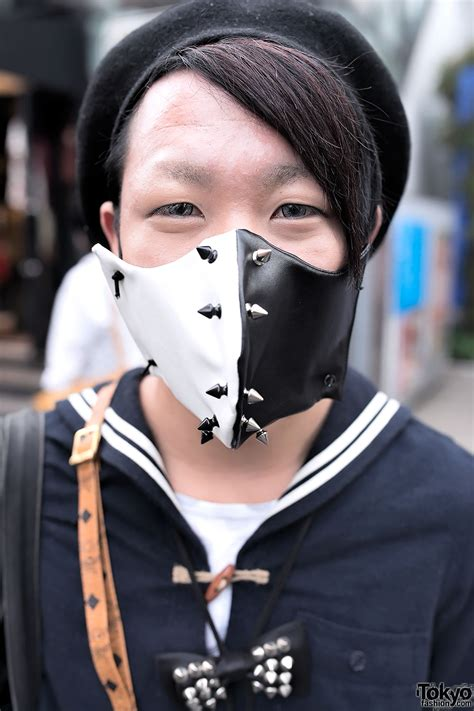 spiked face mask mohawk tartan sex pistols bag  harajuku